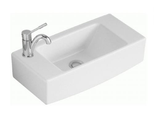 V&B (7313 53R1) Handwash Basin With NO Tap Holes In Alpine White